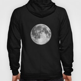 Full Moon print black-white photograph new lunar eclipse poster bedroom home wall decor Hoody