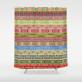 Cigar Box Edging Shower Curtain