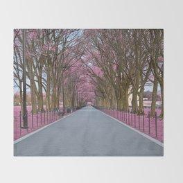 Pink Mall Promenade Throw Blanket