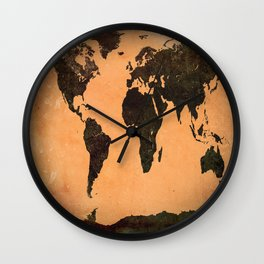 Abstract Earth Science Map Wall Clock