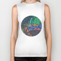 wine Biker Tanks featuring Wine Glass by Juliana Kroscen