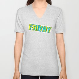 FriYay Purple Unisex V-Neck