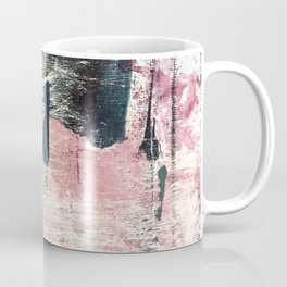 Sweet tooth [7]: a colorful abstract mixed media piece in pink, blues, and white Coffee Mug