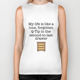 Carrie Fisher Q-Tip Quote Biker Tank