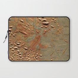 Vintage Relief Map of Boston MA (1874) Laptop Sleeve