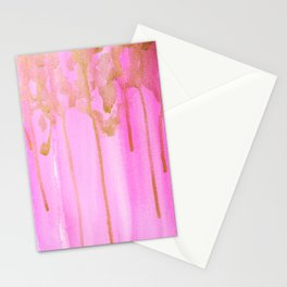 Pink and Gold Stationery Cards