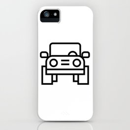 Jeep 4x4 Car Icon (Front-View) iPhone Case