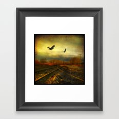 Flight Of The Blackbirds Framed Art Print
