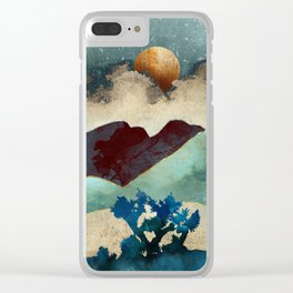 Evening Calm Clear iPhone Case