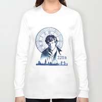sherlock Long Sleeve T-shirts featuring Sherlock by Jackie Sullivan