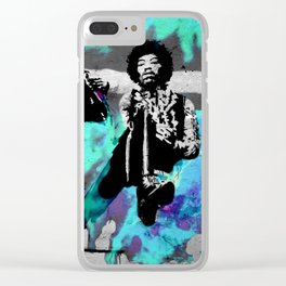 JIMI - 3 portraits Clear iPhone Case