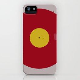 Red Vinyl iPhone Case
