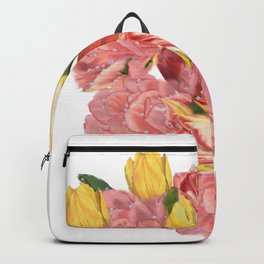 spring flowers with tulips Backpack