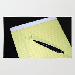 Notepad Pen Help Rug
