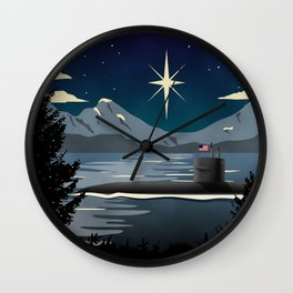 Silent Night - Submarine Christmas Wall Clock