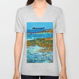 Coastal View Unisex V-Neck