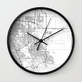 Minimal City Maps - Map Of Aurora, Colorado, United States Wall Clock