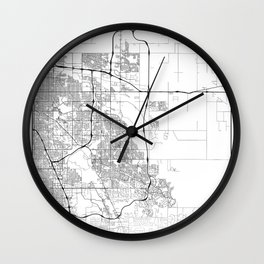 Minimal City Maps - Map Of Aurora, Colorado, United States Wall Clock