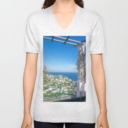 Capri View Unisex V-Neck