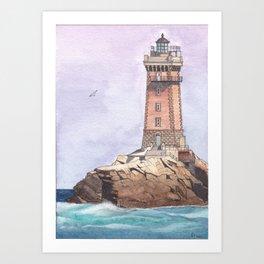 La Vieille Lighthouse Art Print