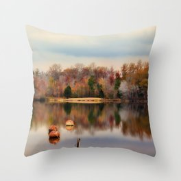 Autumn At Lake LaJoie 3 Throw Pillow