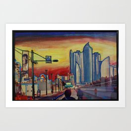 Busan, South Korea Art Print