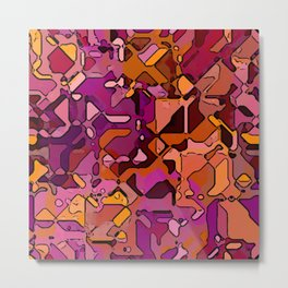 Abstract segmented 3 Metal Print