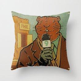 Punxsutawney Phil Throw Pillow
