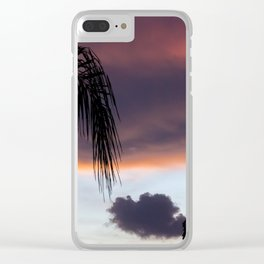 Palm Trees and Sunsets Clear iPhone Case