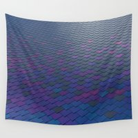 scales Wall Tapestries featuring Scales by Sahara Novotny