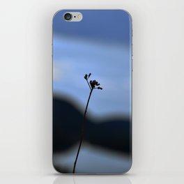Flower in the wind iPhone Skin