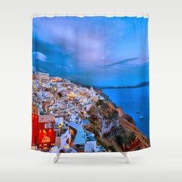Santorini 7 Shower Curtain