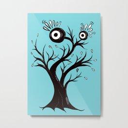 Excited Tree Monster Ink Drawing Metal Print