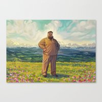 action bronson Canvas Prints featuring Action Bronson - Supreme Leader by Maxillustration