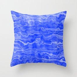 Egyptian Marble, Lapis Blue Throw Pillow