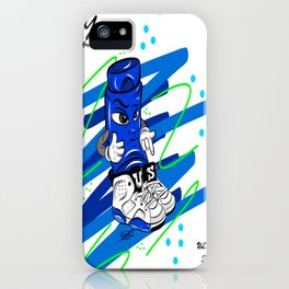 Mr.ShoeLock (blue) iPhone Case