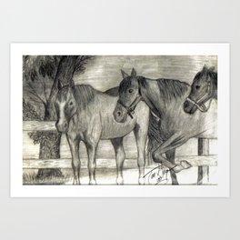 On the Ranch Art Print