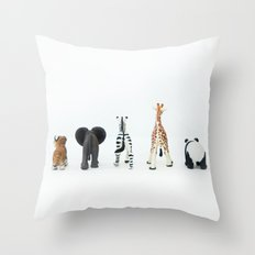 ANIMALS BACKS Throw Pillow