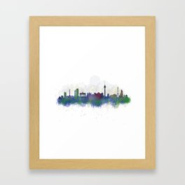 Berlin City Skyline HQ3 Framed Art Print