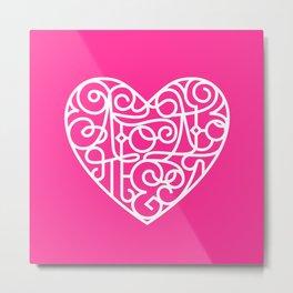 Я тебя люблю. Pink Metal Print