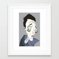 joy division Framed Art Prints featuring Happy Happy! Joy Joy Division!  by VVORMGHOST