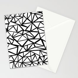 Mozaic Triangle White Stationery Cards