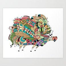 Monster Bunny Art Print