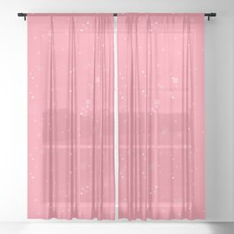 simple geometric pixel pattern 2 pw Sheer Curtain