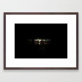 Hampton School @ Night - Hallway #1 Framed Art Print