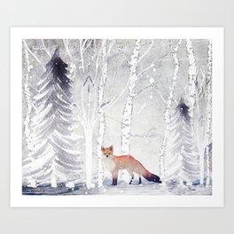 FOX FOX FOX Art Print