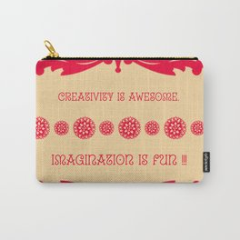 Creativity vs Imagination Carry-All Pouch