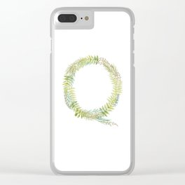 Hand lettering- letter Q Clear iPhone Case