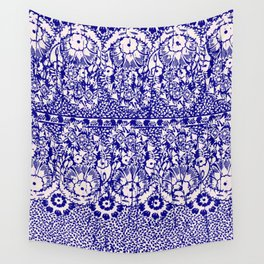 sun floral paisley in reverse violet Wall Tapestry