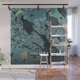Halifax, Canada - Cream Blue Wall Mural